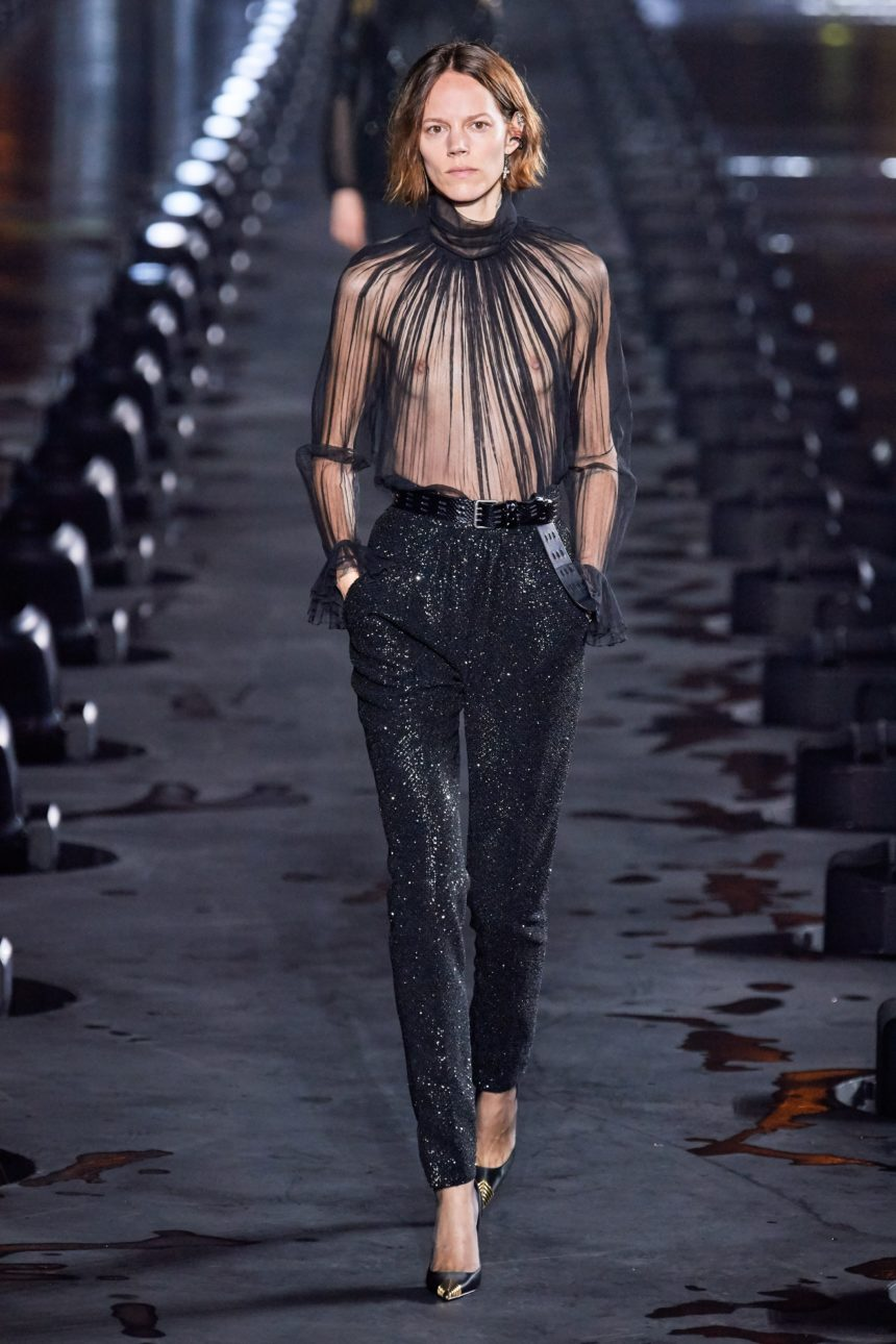 The See-Through Blouse, Tuxedo And Hippie Spirit For Spring/Summer 2020 From Saint Laurent